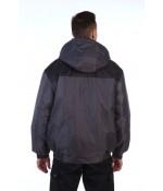 """Куртка """"Универсал"""" (т. серый с черным)"""